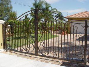 Installation of Iron Entry Gates in Kirkland